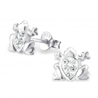Frosch Ohrringe aus 925 Silber