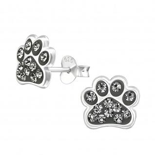 Pfoten Ohrringe aus 925 Silber - Vorschau 1
