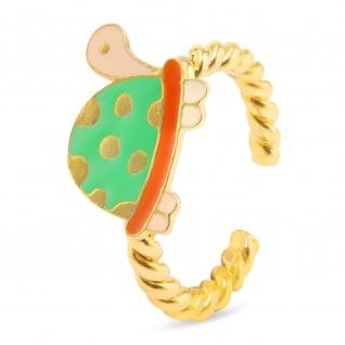 Schildkröte Ring vergoldet