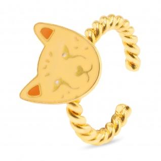 Tiger Ring vergoldet