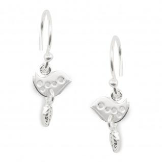 Taube auf Olivenzweig Ohrringe aus 925 Silber
