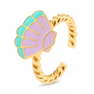 Muschel Ring vergoldet