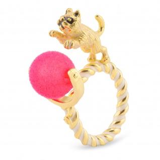 Katzen Ring vergoldet