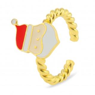 Weihnachtsmann Ring vergoldet
