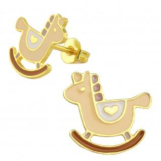 Schaukelpferd Ohrringe vergoldet
