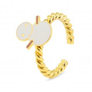 Schneemann Ring vergoldet
