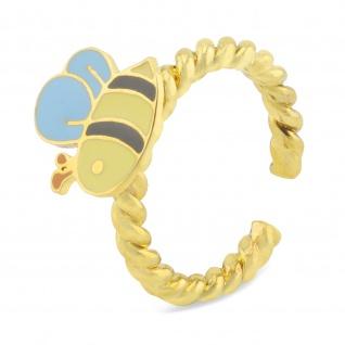 Bienen Ring vergoldet