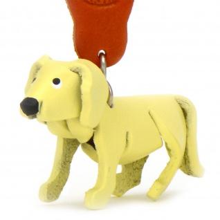 Golden Retriever Hund Schl?sselanh?nger aus Leder