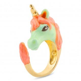 Einhorn Ring vergoldet