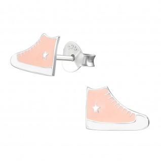 Sneaker Schuhe Kinder Ohrringe aus Silber