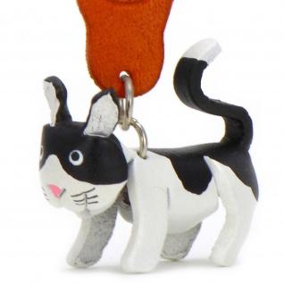 Katzen Schl?sselanh?nger aus Leder