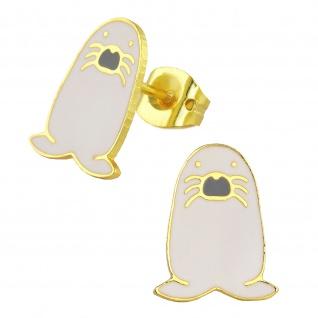 Robben Ohrringe vergoldet