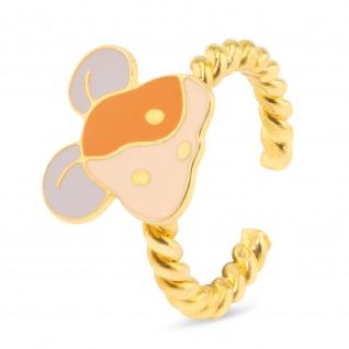 Maus Ring vergoldet