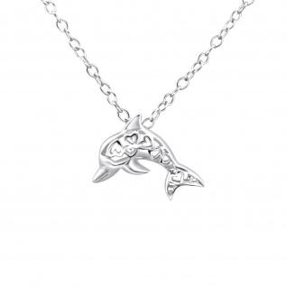 Delfin Halskette aus 925 Silber