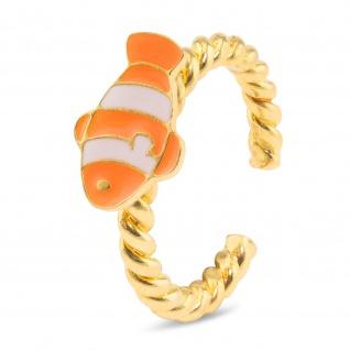 Clownfisch Ring vergoldet