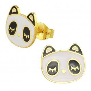 Panda Ohrringe vergoldet