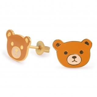 Bären Ohrringe vergoldet