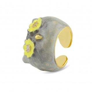 Eulen Ring vergoldet