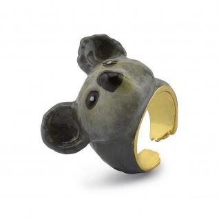 Koala Ring vergoldet