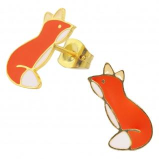 Fuchs Ohrringe vergoldet