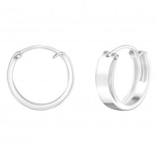 Breite Creolen Ohrringe aus 925 Silber