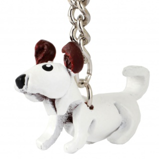 Jack Russell Terrier Schl?sselanh?nger aus Leder