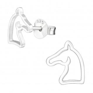 Pferde Kinder Ohrringe aus Silber