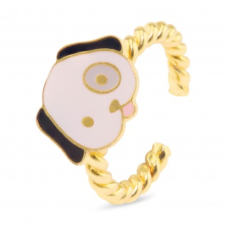 Hunde Ring vergoldet
