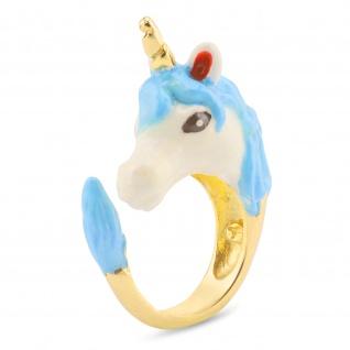 Einhorn Damen-Ring vergoldet