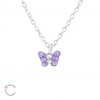 Schmetterling Halskette aus 925 Silber