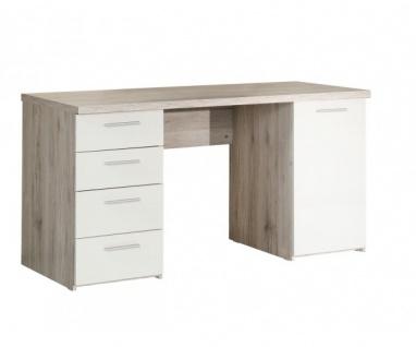 BEAT25-P79 Beach Schreibtisch Arbeitstisch Bürotisch PC - Tisch Sandeiche Dek...