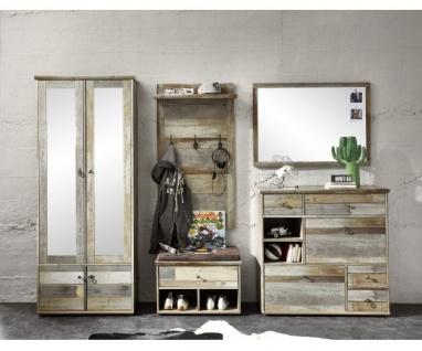 komplett Garderobe Diele Bonanza 5teilig Driftwood Vintage ca. 408 cm