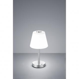 525490107 LED EMERALD weiß / nickel matt Tischlampe Nachttischleuchte Tischle...