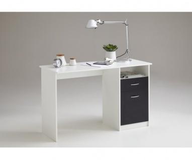 3004-001 Jackson weiss / schwarz Schreibtisch Arbeitstisch Bürotisch Kindersc...