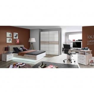Jugendzimmer 4-teilig Rondino bestehend aus Bett 140x200 / KLS 170 cm / Nako ...
