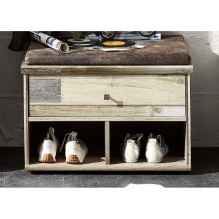 3064DD60 Bonanza Driftwood Vintage / grau Schuhbank Sitzbank Garderobenbank B...