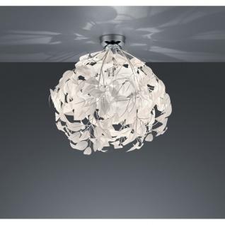 R60461001 Deckenleuchte Leavy chrom, weiß 1x E27 Höhe ca. 58 cm Durchm. ca. 3...