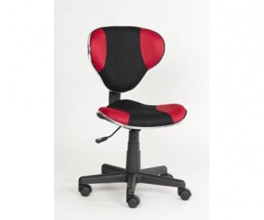 60019R5 Drehstuhl Kinderstuhl Bürostuhl Kinderdrehstuhl Alex rot / schwarz