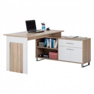 39-730-68-4 Schreibtisch Bürotisch Büro Winkelkombination Manager Eiche säger...