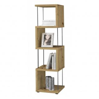 Standregal Raumteiler Bücherregal Stauraumregal STICKS 5-66 Asteiche - Vorschau 3