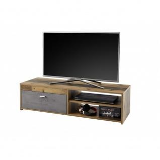 Lowboard Hifi Kommode TV Board ca. 120 cm GEMMA Old Style Altholz Nb. / Grau