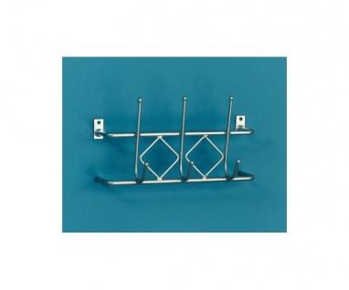 894069 Wandgarderobe Garderobenhaken Metall Sento 3 silbergrau lackiert