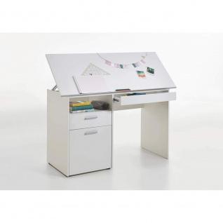 3009-001 DELFT Weiß Schreibtisch Kinderschreibtisch Jugendzimmertisch Kindert...