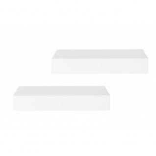 2er Set 002393 SHELVY 23 Hochglanz Weiß Wandboard Wandregal Steckboard Hänger...