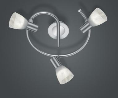 871090307 LEVISTO Nickel matt LED-Schnecke Leuchte 3 x E14 6 Watt Durchmesser...