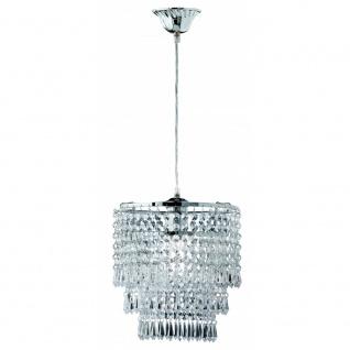 R1147-06 Pendelleuchte Orient chrom, transparent klar 1x E27 Höhe ca. 160 cm ...