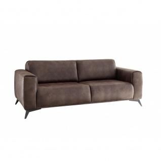 PUEBLO 2, 5-Sitzer Vintage Braun Sitzsofa Schlafsofa Lounge ca. 185 cm