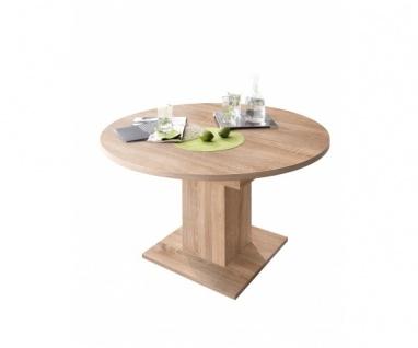 0588 Tisch rund / 120 cm Eiche Sägerau Dekor ZIP Esszimmertisch Küchentisch S...