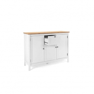 002854 BERGEN 57 Weiß / Artisan Eiche Nb. Kommode Beistellkommode Sideboard S...