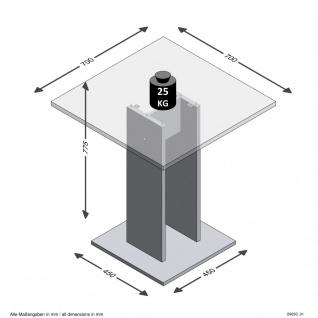 Tisch Esszimmertisch Küchentisch Beistelltisch ca. 70 x 70 cm BANDOL 1 Matera... - Vorschau 2